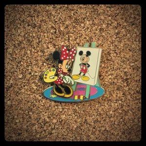 Disney Minnie Mickey Painting Art Pin